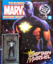 Classic Marvel Figurine Collection #046 Captain Marvel White Variant Eaglemoss Publications